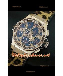 Hulbot Big Bang Edición Leopard de oro rosado