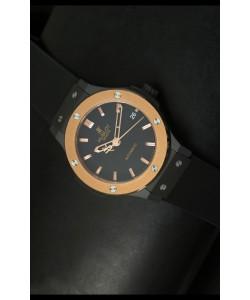Hublot Classic Fusion 39MM Reloj con Caja Revestida en PVD