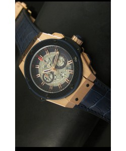 Hublot Big Bang King Reloj de Cuarzo Suizo en Oro Rosado Dial tipo Skeleton 45MM