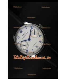 IWC Portugieser IW500705 Reloj Suizo Automático en Dial Blanco - Réplica Espejo Actualizada 1:1