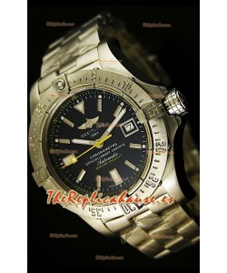Breitling Avenger Seawolf, Reloj Réplica Suiza con manecilla segundera color amarillo, en escala 1:1