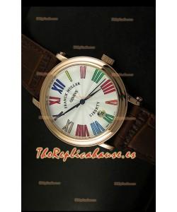 Franck Muller Master of Complications Liberty, Reloj Réplica Japonés caja de Oro Rosado