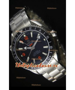 Omega Planet Ocean GMT Reloj Réplica Suizo Negro - Edición Espejo 1:1