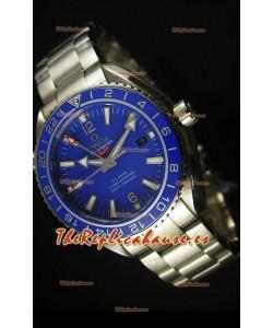 Omega Planet Ocean GMT Blue Swiss Replica Watch - Edición Espejo 1:1