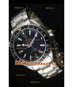 Omega Planet Ocean GMT Black Swiss Replica Watch - Edición Espejo 1:1