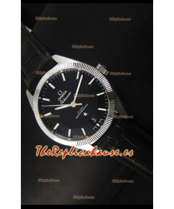 Omega Globemaster Reloj Suizo Co-Axial Dial Negro Acero Inoxidable - Reloj Réplica Espejo 1:1
