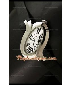 Delices De Cartier Réplica Reloj Señoras en Piel Negra
