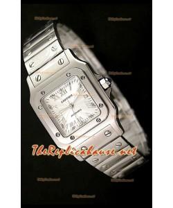 Cartier Santos Réplica de Reloj Suizo para Señoras de 29 MM - Numerales de Hora en Acero.