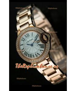 Cartier Tank Anglaise para damas Réplica Cascasa de oro rosado