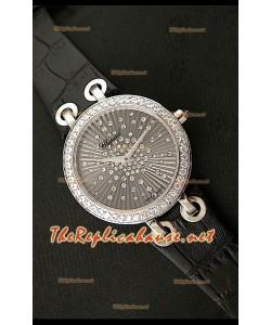 Chopard Xtraveganza Reloj para Señoras con Diamantes incrustados en carcasa Correa Negra