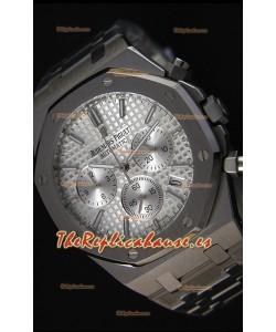 Audemars Piguet Royal Oak Reloj Réplica Cronógrafo de Cuarzo Suizo, Dial plateado - 41MM