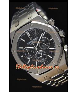 Audemars Piguet Royal Oak Reloj Réplica Cronógrafo de Cuarzo Suizo Dial Negro - 41MM