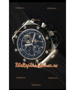 Audemars Piguet Royal Oak Reloj Réplica Cronógrafo de Cuarzo Suizo Survivor, Dial Negro