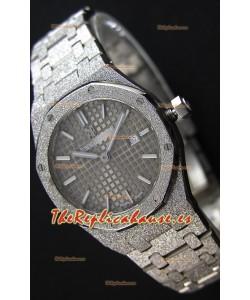Audemars Piguet Royal Oak Frosted Reloj Réplica 1:1 de Cuarzo Suizo en Oro Amarillo y Dial Gris 33MM