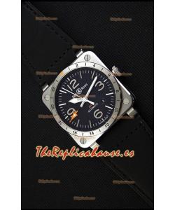 Bell & Ross BR03-93 GMT Reloj Réplica Suizo de Acero a espejo 1:1 Edición 42MM