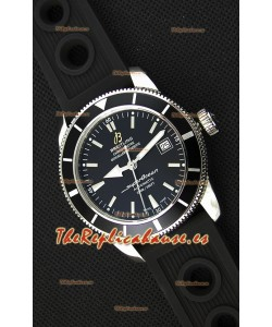 Breitling SuperOcean Heritage II B20 42MM Reloj Réplica Suizo Dial Negro Bisel Negro - Edición Espejo 1:1