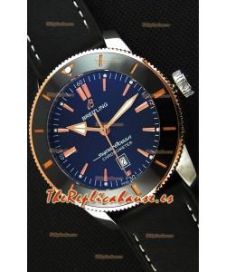 Breitling SuperOcean Heritage II B20 44MM Reloj Réplica a espejo 1:1 Dial Negro con Bisel en Dos Tonos