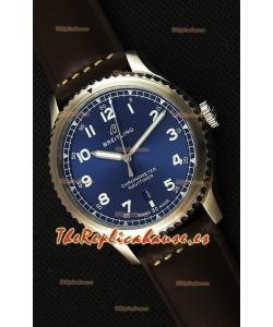 Breitling Navitimer 8 Automatic 41MM Reloj Réplica Suizo Dial Azul