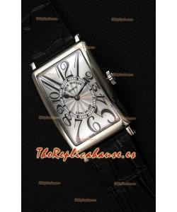 Franck Muller Long Island Ladies Reloj Réplica con Movimiento de Cuarzo Suizo correa color Negro