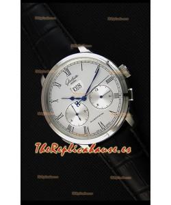 Glashuette Dual Sub Dial Reloj Réplica Japonés en Dial Blanco