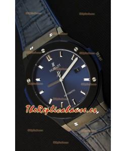 Hublot Classic Fusion Reloj Réplica Suizo en Cerámica color Azul - Réplica a Espejo 1:1