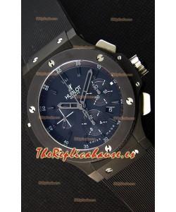1f0dd0f8844 Hublot Big Bang Reloj Réplica Suizo todo el Revestimiento PVD color Negro  Réplica a Espejo 1 ...