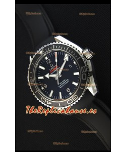 Omega Seamaster Planet Ocean Swiss Correa Negra Réplica 45MM 1:1 Ultimate Edition Watch
