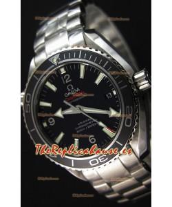 Omega Seamaster Planet Ocean Reloj Réplica Suizo Correa Negra 42MM Réplica a Espejo 1:1