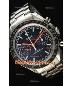 Omega Speedmaster Racing Co-Axial Master Reloj Réplica Suizo Cronógrafo en Dial Negro