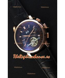 Patek Philippe Japanese Tourbillon Reloj Réplica Caja en Oro Rosado dial Negro