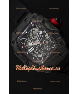 Richard Mille RM35-2 Rafael Nadal Caja de Carbón Forjado con Correa de Goma color Negro