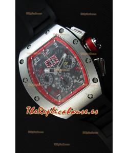 Richard Mille RM011-FM Felipe Massa Caja de Titanio de una sola Pieza en Correa Negra