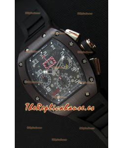 Richard Mille RM011-FM Felipe Massa Caja de Cerámica de una Sola Pieza con Correa color Negro