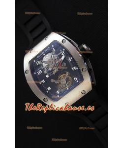 Richard Mille RM001 Evolution Tourbillon Reloj Réplica Suizo con Caja de Acero Cepillado