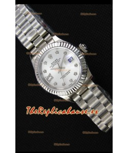 Rolex Datejust Ladies Star Diamonds Markers Reloj Suizo Réplica a Espejo 1:1 Movimiento CAL.2236