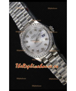 Rolex Datejust Ladies Diamonds Markers Reloj Suizo Réplica a Espejo 1:1 Movimiento CAL.2236