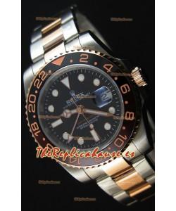 Rolex GMT Masters II 126711CHNR Everose Réplica Suiza a Espejo 1:1 en Acero tipo Ostra