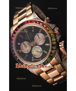 Rolex Cosmograph Daytona 116595RBOW Everose  Réplica a Espejo 1:1 Movimiento Cal.4130