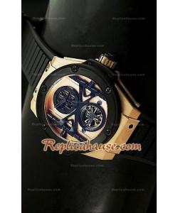 Hublot Big Bang Keng Power Tourbilon Reproducción Japonesa del Reloj en Oro Rosa