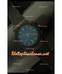 Hublot Vendome Cronógrafo PVD Reloj Japonés - Marcas Verdes