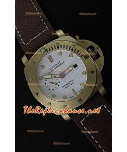 Panerai Lumenor Reloj de Oro Rosa Sumergible y Esfera Blanca - 47MM
