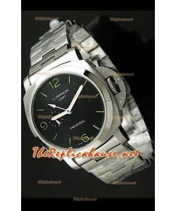 Panerai Lumenor GMT PAM329 Reloj Japonés con Correa de Acero