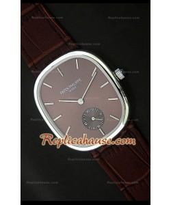 Patek Philippe Mens Golden Elipse Reloj Japonés en Acero