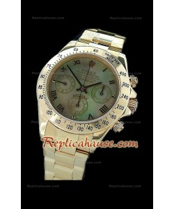 Rolex Daytona Resproducción Reloj Cosmógrafo Suizo con Esfera Verde