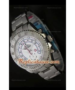 Rolex Replica Yachtmaster II Reloj Suizo con Esfera Blanca