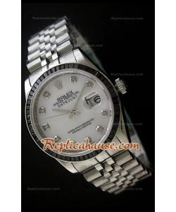 Rolex Datejust Reproducción Reloj Suizo con Correa de Acero