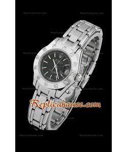 Rolex Datejust Reproducción Reloj Suizo para Señoras con Esfera de color Negro