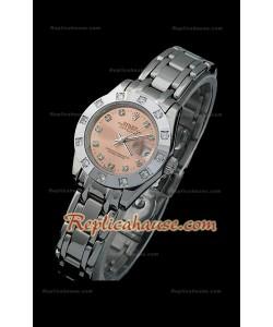 Rolex Datejust Reproducción Reloj Suizo para Señoras con Esfera Champagne