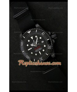 Reloj Suizo Rolex Edición Sea Dweller Pro Hunter Jacques Piccard NATO Reloj Suizo