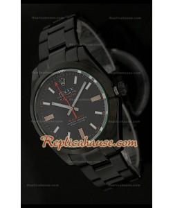Réplica Reloj Suizo Rolex Edición Milgauss Blackout  con Esfera de color Negro
